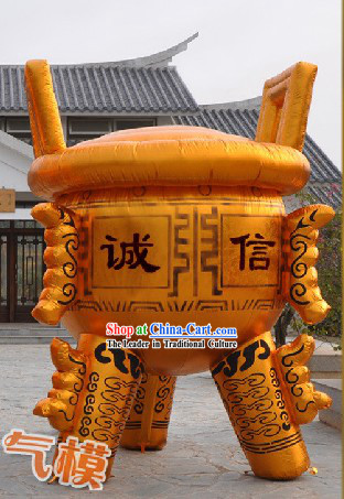 Large Chinese Golden Inflatable Tripod