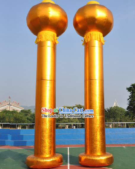 315 Inches Long Chinese Golden Inflatable Palace Lanterns