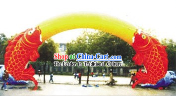 Chinese New Year Celebration Inflatable Fishes Arch