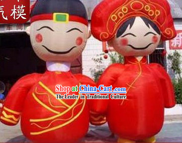 Large Inflatable Chinese Bride and Bridegroom Set