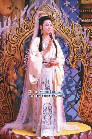 Ancient Chinese Guan Yin Costumes Complete Set