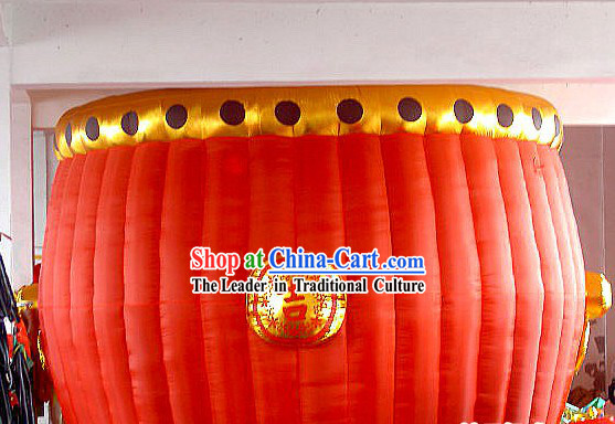 Large Chinese Inflatable Red Drum