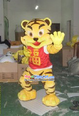 Chinese Fu Tiger Mascot Costumes Complete Set