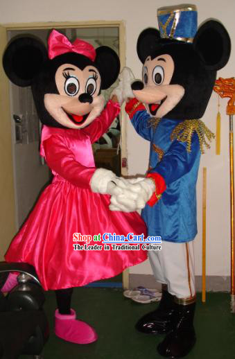 Mickey Men or Women Mascot Costumes Complete Set