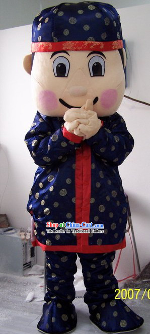 Chinese Boy Mascot Costumes Complete Set