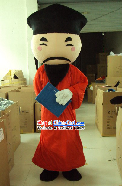 Ancient Chinese Teacher Mascot Costumes Complete Set