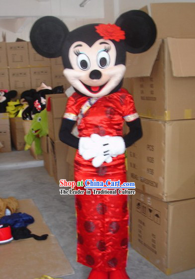Chinese Female Mickey Mascot Costumes Complete Set