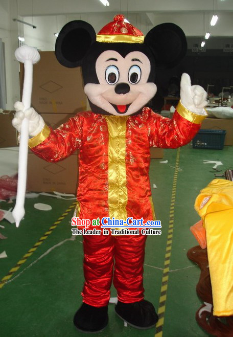 Chinese Male Mickey Mascot Costumes Complete Set