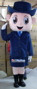 Chinese Women Policeman Mascot Costumes Complete Set