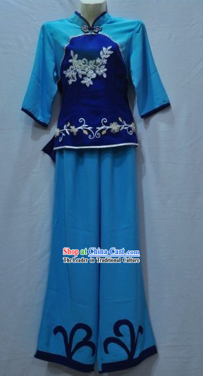 Chinese Classical Fan Dance Costume Set