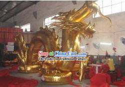 315 Inches Length Chinese Inflatable Golden Dragon