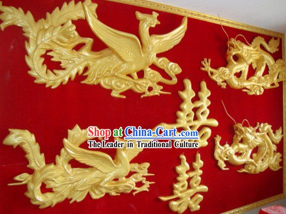 Dragon Phoenix Xi Chinese Wedding Background Decoration Complete Set
