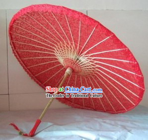 Traditional Chinese Hand-made Red Wedding Umbrella