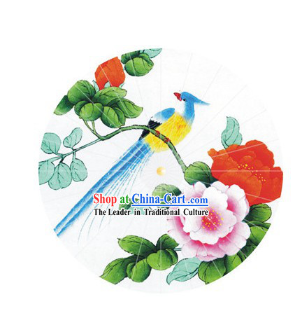 Chinese Hand Made Bird Flower Paper Umbrellas