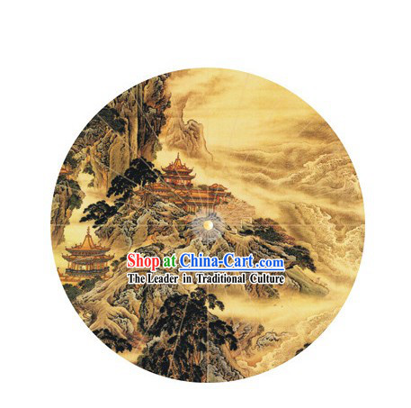 Hand Painted Chinese Water and Mountain Umbrella