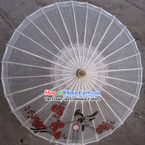 Chinese Hand Made Bird Flower Umbrella