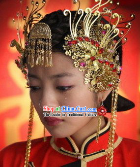 Chinese Ancient Wedding Hair Decoration Set
