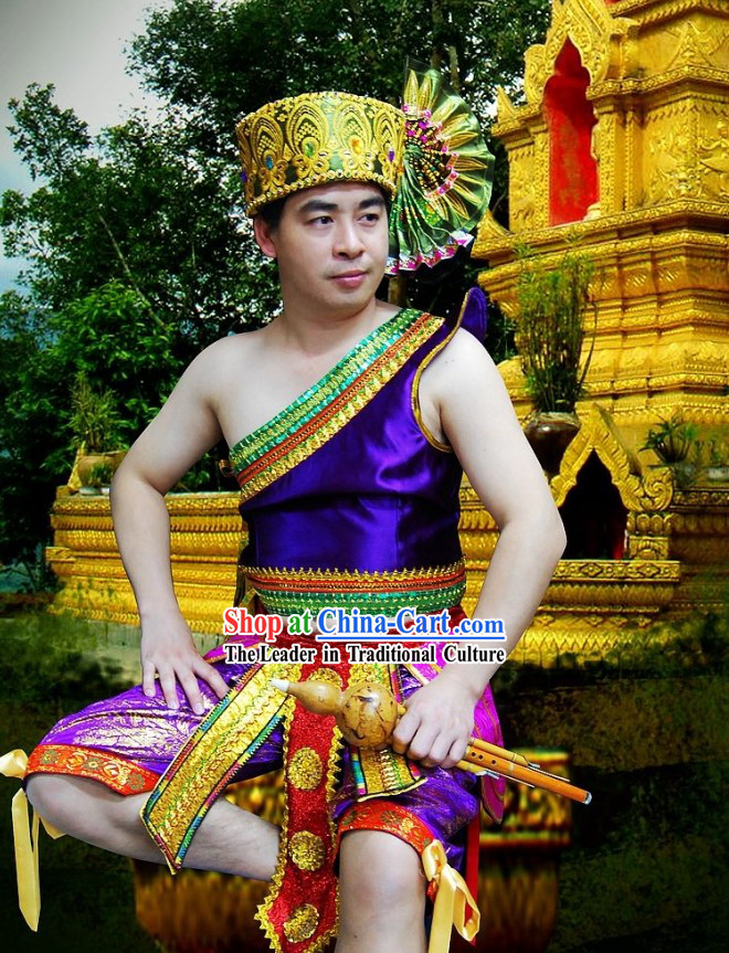 Thailand Prince Costume and Hat Complete Set