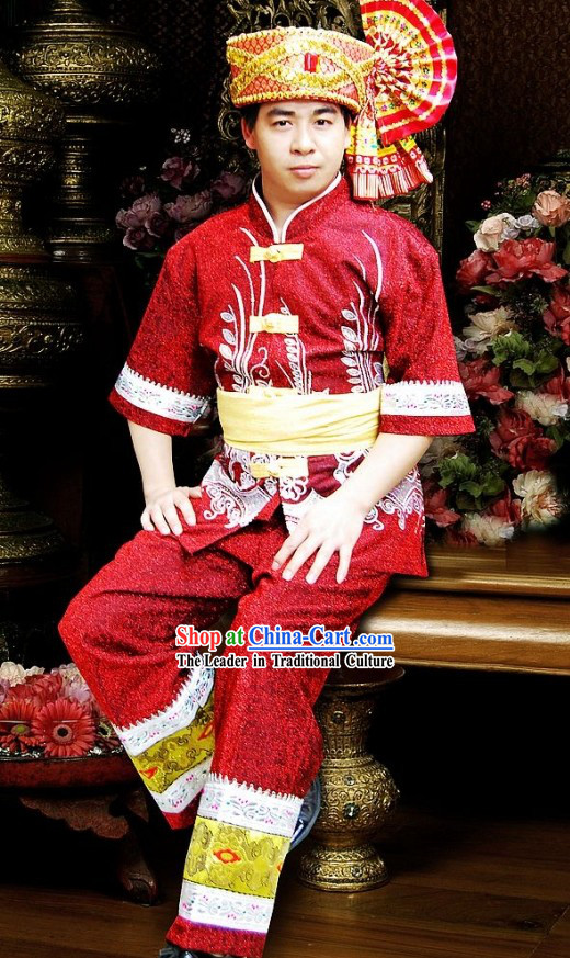 Thailand Water-Sprinkling Festival Costumes for Men