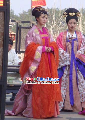 China Tang Dynasty Princess Clothing Complete Set