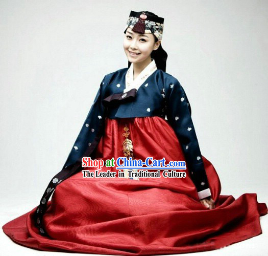 Ancient Korean Hanbok Dress Set for Women