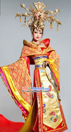 Ancient Chinese Princess Wedding Dress Complete Set