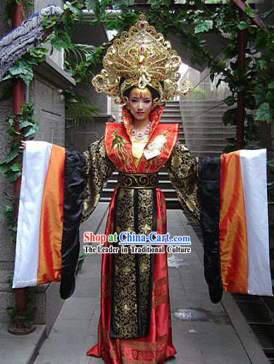Chinese Empress Costumes and Crown Complete Set