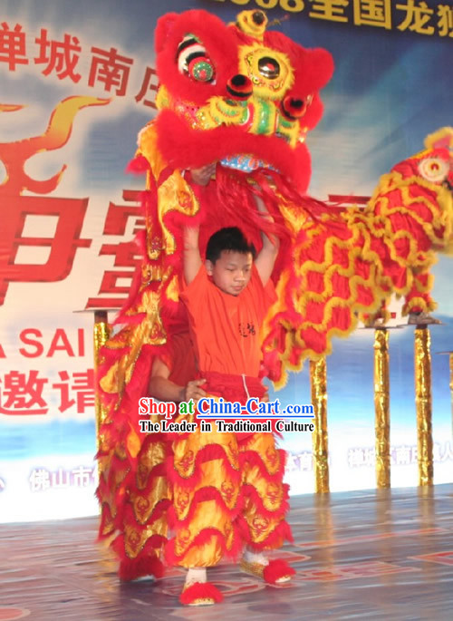 Children Lion Dance Costumes Complete Set