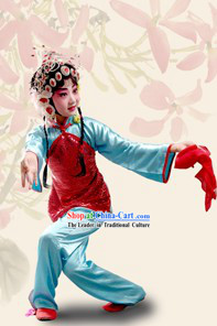 Chinese Beijing Opera Costumes and Headpieces for Children
