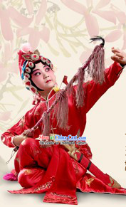 China Peking Opera Dress and Hair Decoration for Children