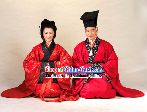 Supreme Chinese Wedding Dress 2 Sets for Men and Women