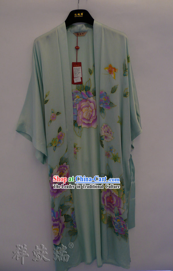 Rui Fu Xiang Hand Painted Silk Gown for Women
