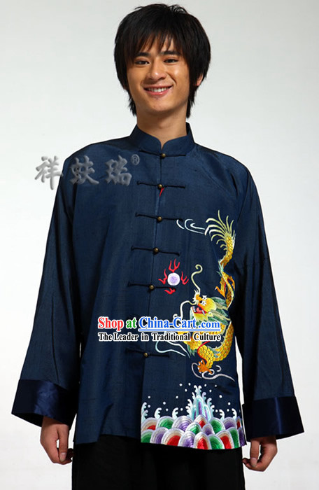 Rui Fu Xiang Silk Dragon Tang Suit for Men