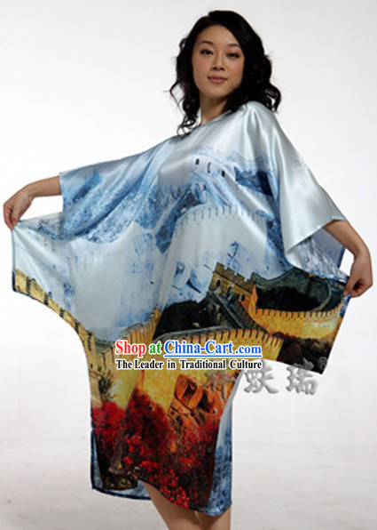Rui Fu Xiang Beijing Great Wall Silk Robe for Women