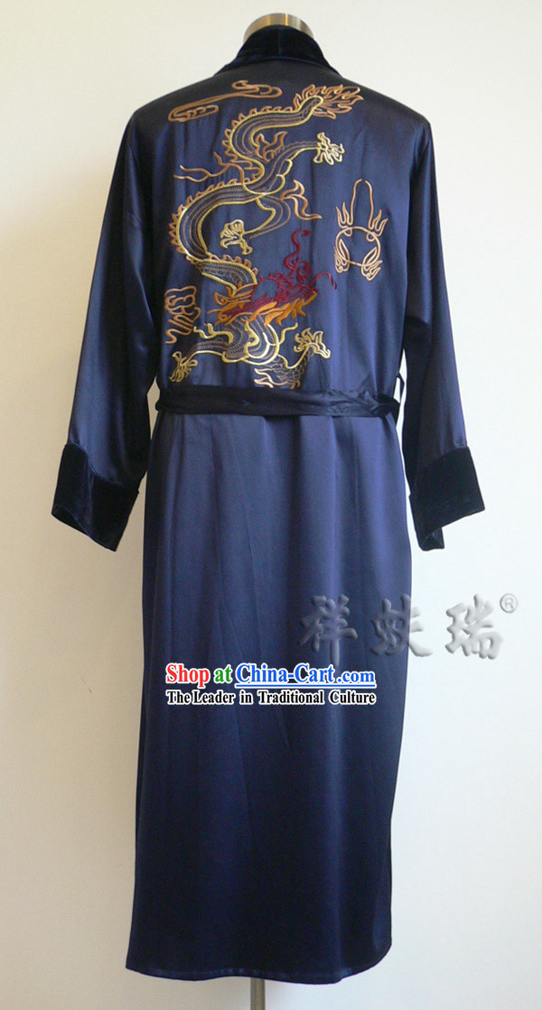 Peking Rui Fu Xiang Silk Dragon Pajama for Men