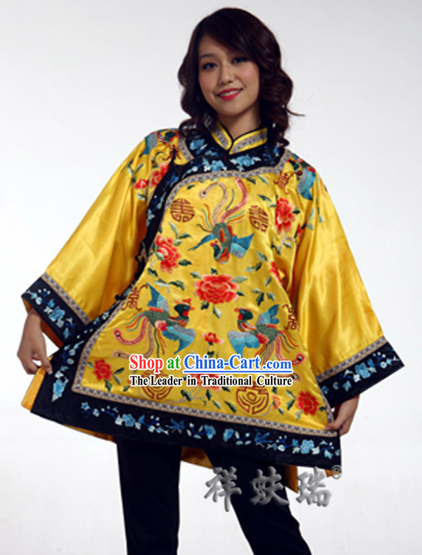 Traditional Chinese Rui Fu Xiang Hand Embroidered Garment for Women