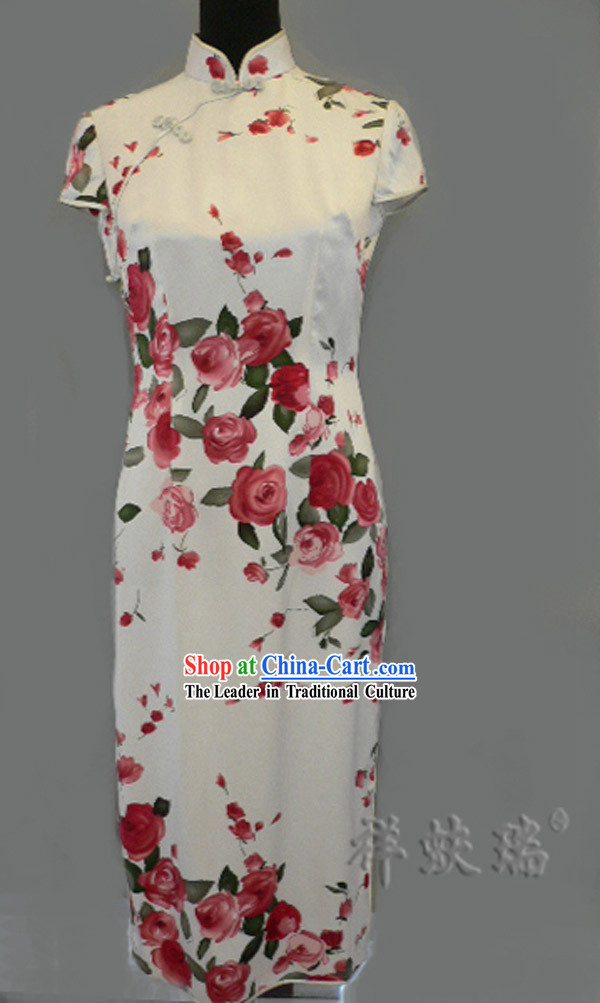 Beijing Rui Fu Xiang Silk Red Chi-pao for Women