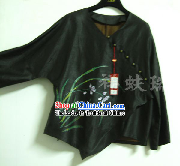 Traditional China Beijing Rui Fu Xiang Xiang Yun Sha Jacket for Women