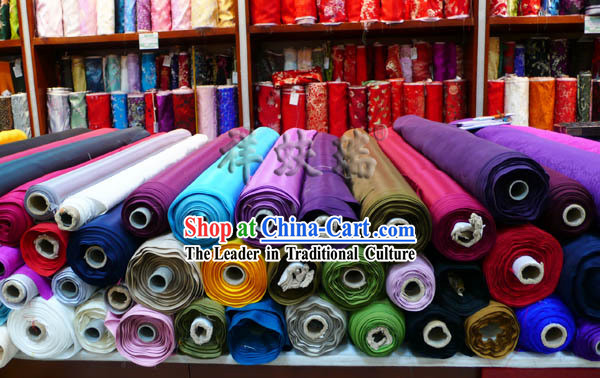 China Beijing Rui Fu Xiang Wang Shou Silk Fabric