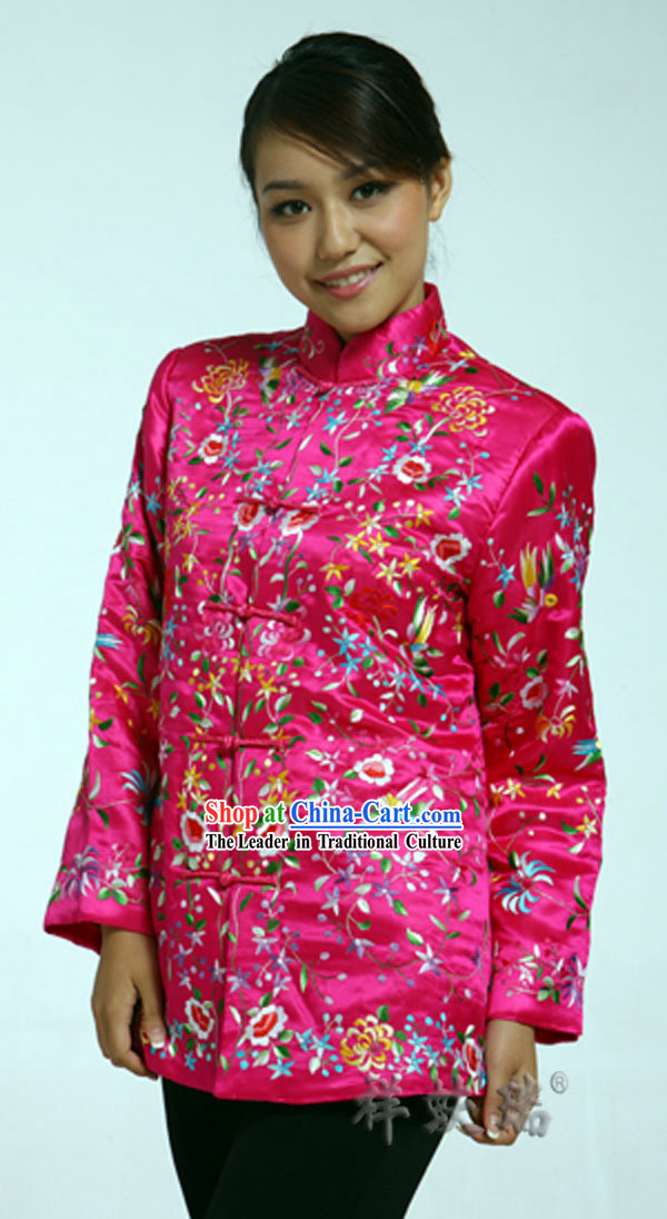 Well-known Rui Fu Xiang Silk Cotton-padded Wedding Clothes