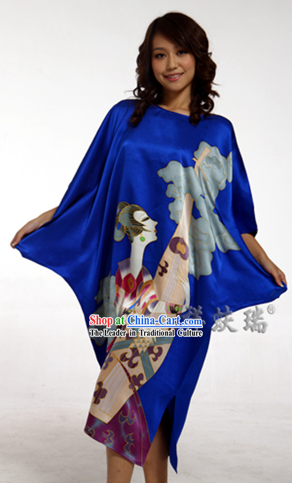 Beijing Rui Fu Xiang Silk Blue Pajama for Women