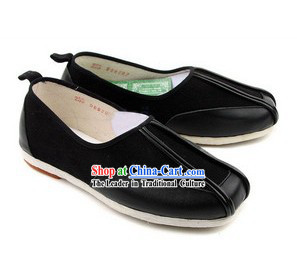 Chinese Handmade Bu Ying Zhai Kung Fu Cow Leather Shoes for Men