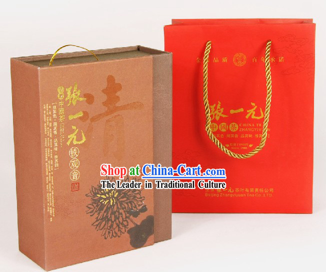 Chinese Zhang Yiyuan Anxi Tie Guanyin Tea Leaf in Gift Package