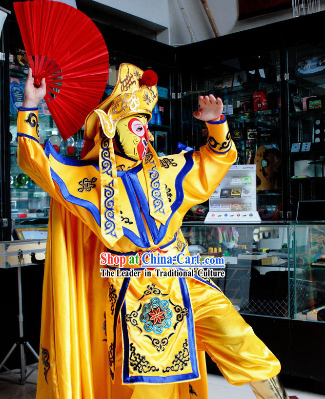 Monkey King Bian Lian Face Changing Costumes Hat Eight Masks Music CD and Teaching DVD Ccomplete Set