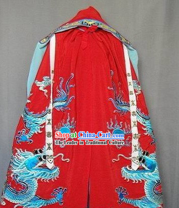 Ancient Chinese Embroidered Dragon Cape for Men