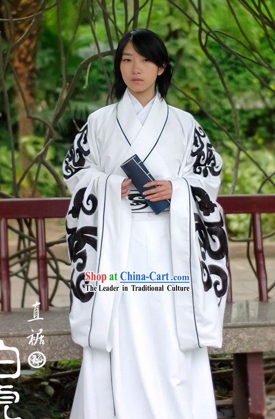 Handmade Chinese Embroidered Tiger Clothing Complete Set for Men