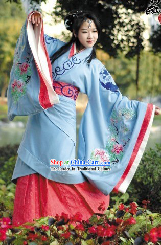 Ancient Chinese Female Hanfu Clothing Complete Set