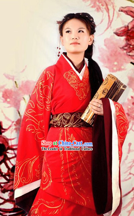 Chinese Phoenix Wedding Hanfu Dress Set