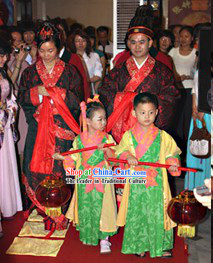 Traditional Chinese Wedding Attendant Dress for Children