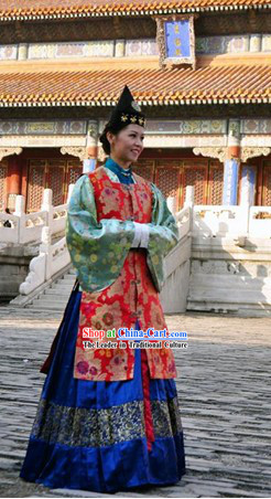 Chinese Ming Dynasty Princess Clothing Complete Set